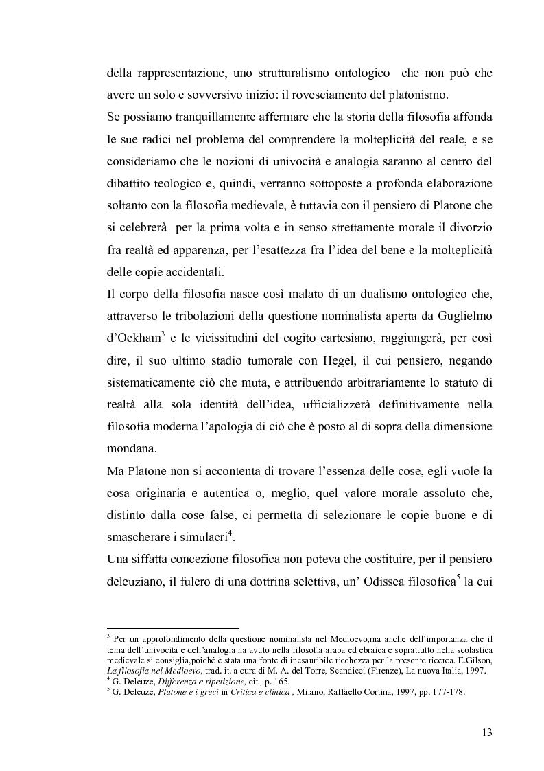 Anteprima della tesi: Tre riletture del pensiero di Spinoza nella filosofia contemporanea: G. Deleuze, A. Negri, E. Balibar, Pagina 12