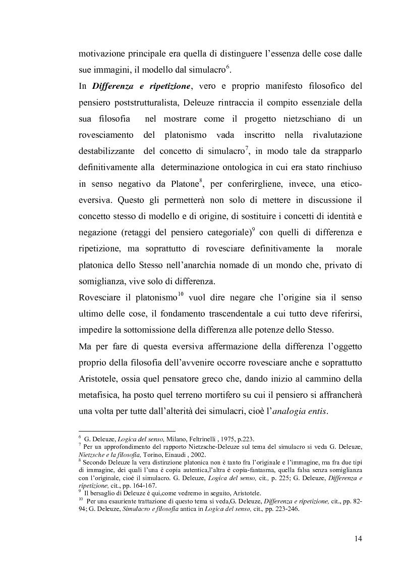 Anteprima della tesi: Tre riletture del pensiero di Spinoza nella filosofia contemporanea: G. Deleuze, A. Negri, E. Balibar, Pagina 13