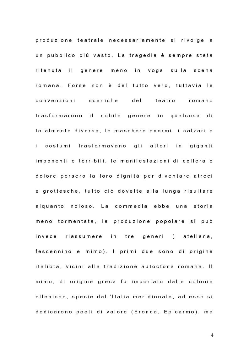 Anteprima della tesi: Il teatro dell'antica Roma alle origini del teatro moderno, Pagina 3