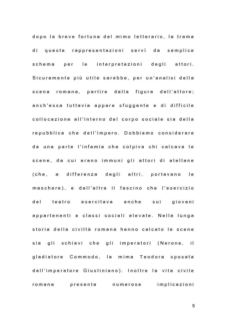 Anteprima della tesi: Il teatro dell'antica Roma alle origini del teatro moderno, Pagina 4