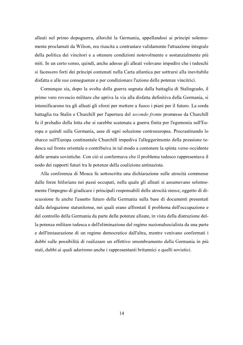Anteprima della tesi: L'influenza degli Alleati nei processi costituenti della Germania postbellica: rapporti politico-militari sottesi all'elaborazione del Grundgesetz, Pagina 10