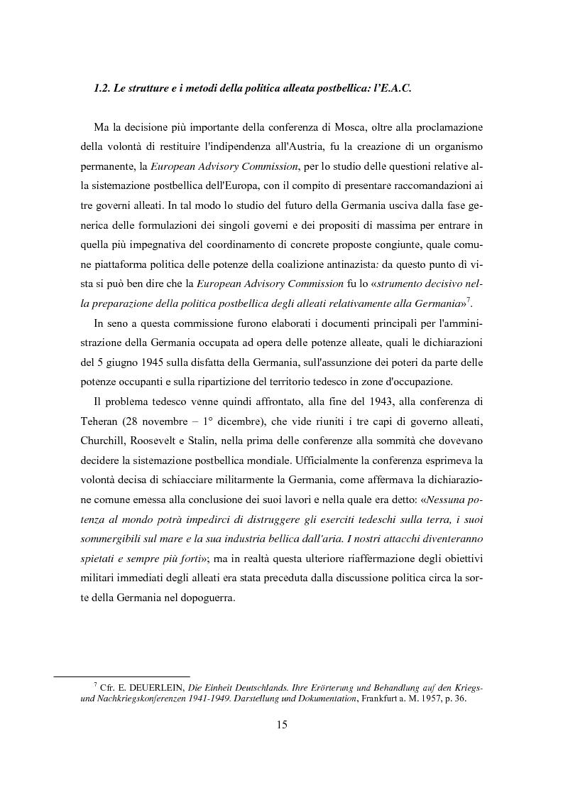Anteprima della tesi: L'influenza degli Alleati nei processi costituenti della Germania postbellica: rapporti politico-militari sottesi all'elaborazione del Grundgesetz, Pagina 11