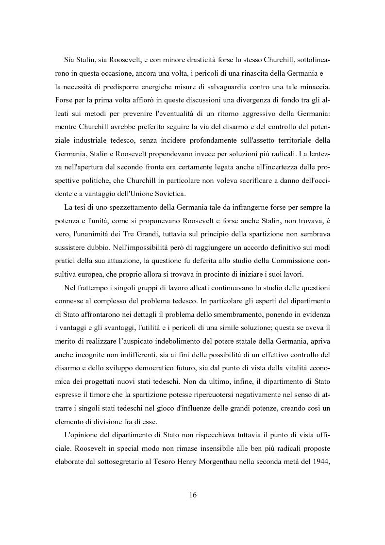 Anteprima della tesi: L'influenza degli Alleati nei processi costituenti della Germania postbellica: rapporti politico-militari sottesi all'elaborazione del Grundgesetz, Pagina 12