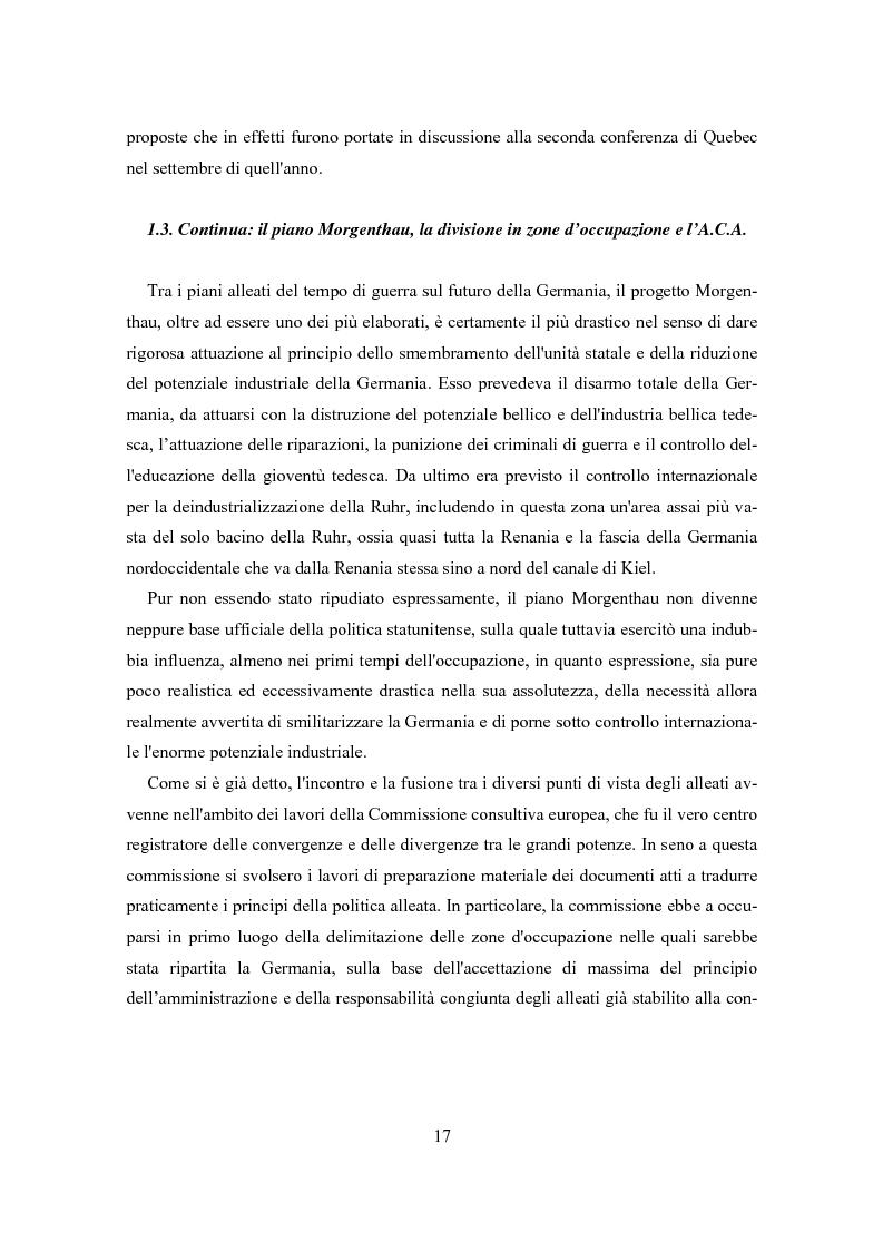Anteprima della tesi: L'influenza degli Alleati nei processi costituenti della Germania postbellica: rapporti politico-militari sottesi all'elaborazione del Grundgesetz, Pagina 13