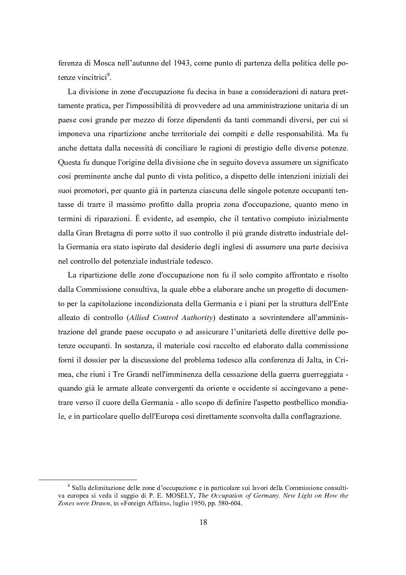 Anteprima della tesi: L'influenza degli Alleati nei processi costituenti della Germania postbellica: rapporti politico-militari sottesi all'elaborazione del Grundgesetz, Pagina 14