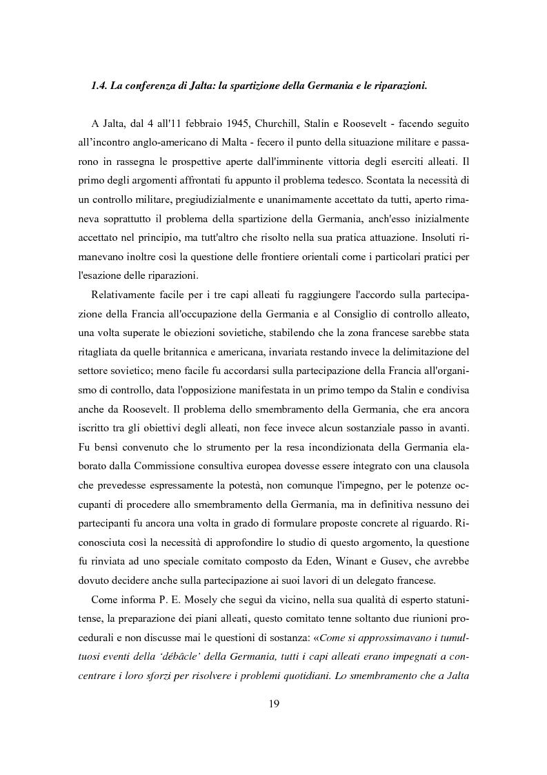 Anteprima della tesi: L'influenza degli Alleati nei processi costituenti della Germania postbellica: rapporti politico-militari sottesi all'elaborazione del Grundgesetz, Pagina 15