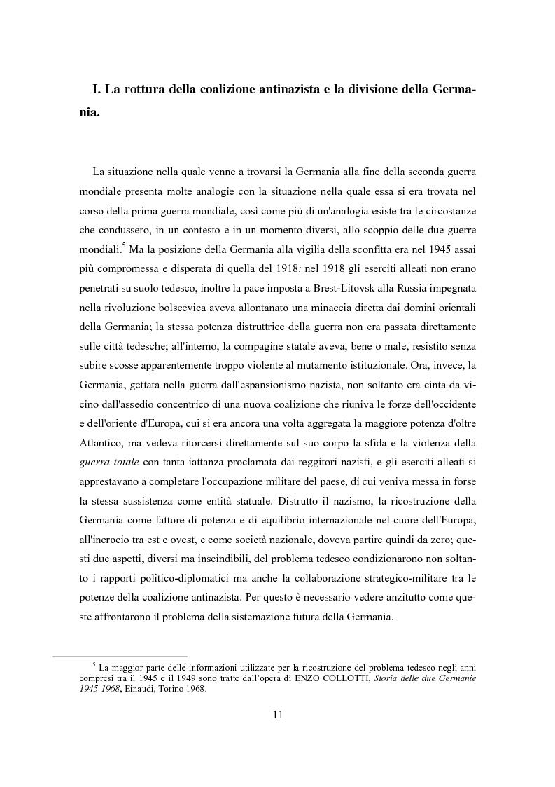 Anteprima della tesi: L'influenza degli Alleati nei processi costituenti della Germania postbellica: rapporti politico-militari sottesi all'elaborazione del Grundgesetz, Pagina 7