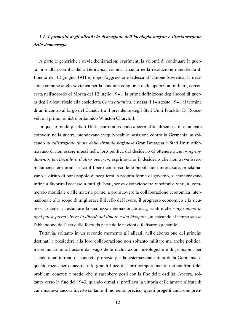 Anteprima della tesi: L'influenza degli Alleati nei processi costituenti della Germania postbellica: rapporti politico-militari sottesi all'elaborazione del Grundgesetz, Pagina 8