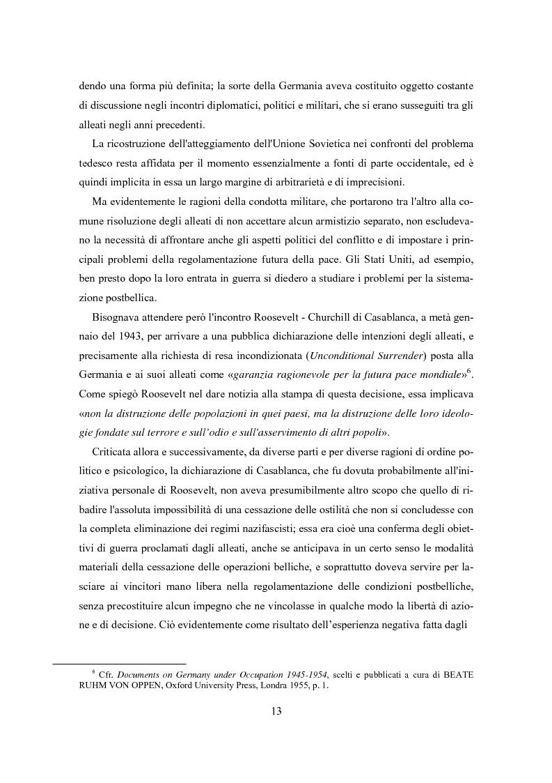 Anteprima della tesi: L'influenza degli Alleati nei processi costituenti della Germania postbellica: rapporti politico-militari sottesi all'elaborazione del Grundgesetz, Pagina 9