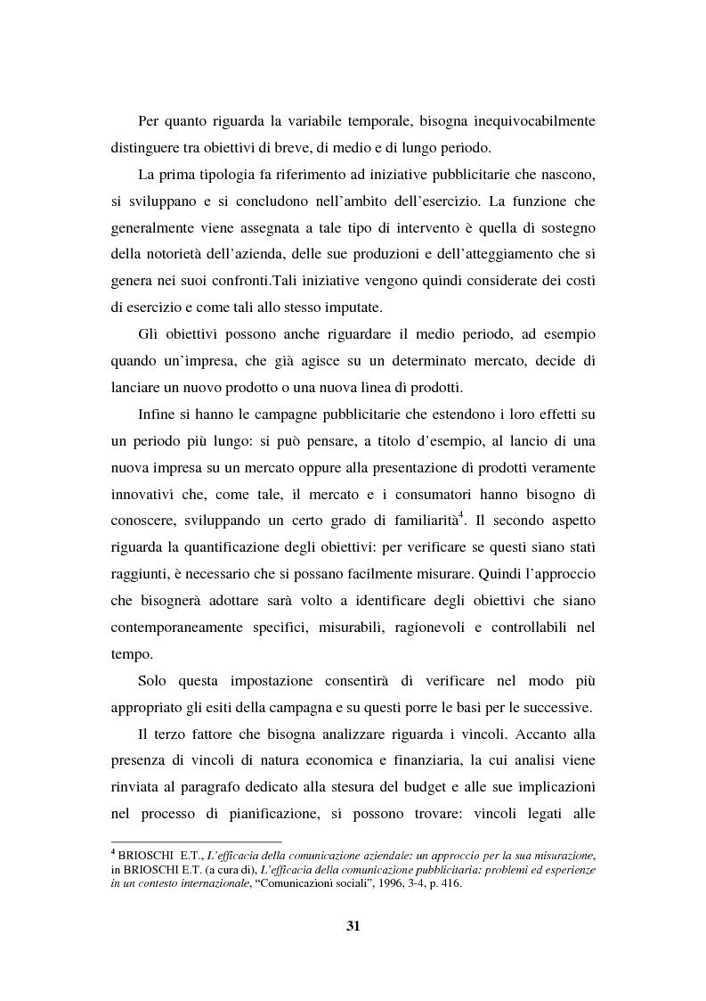 Anteprima della tesi: La programmazione e il controllo di una campagna pubblicitaria, Pagina 10