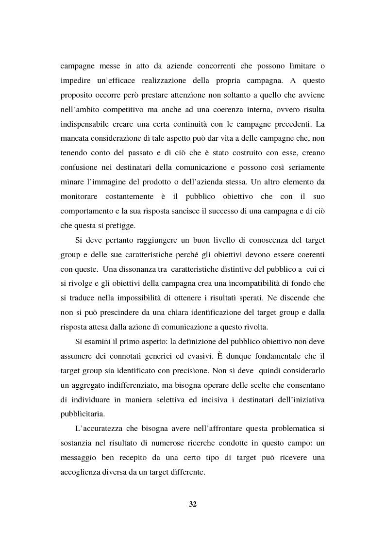 Anteprima della tesi: La programmazione e il controllo di una campagna pubblicitaria, Pagina 11