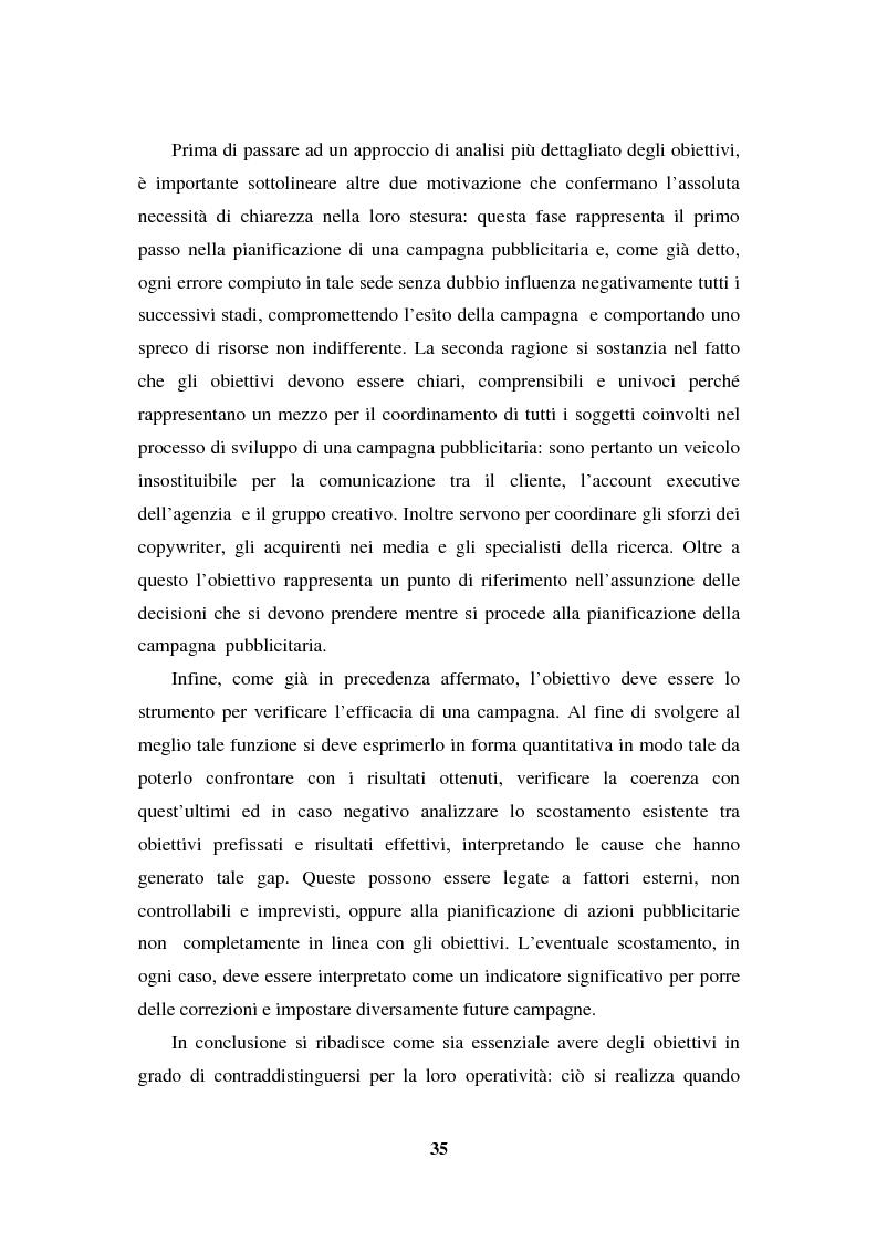 Anteprima della tesi: La programmazione e il controllo di una campagna pubblicitaria, Pagina 14