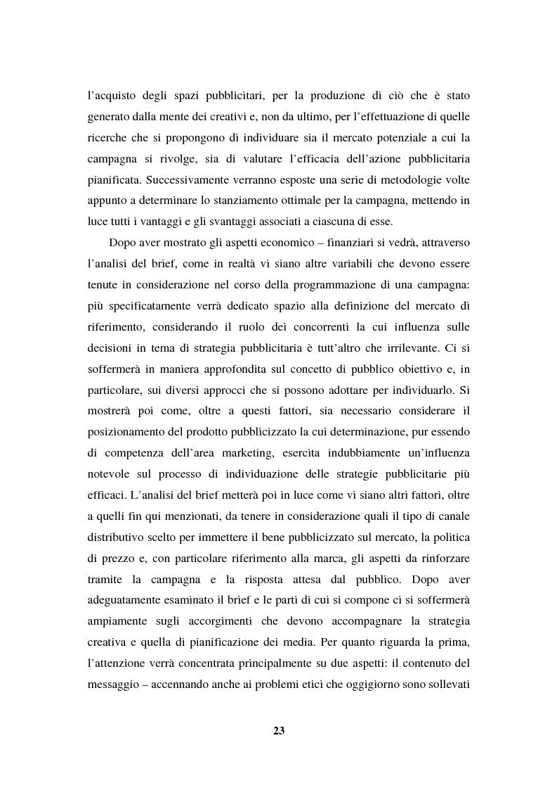 Anteprima della tesi: La programmazione e il controllo di una campagna pubblicitaria, Pagina 2