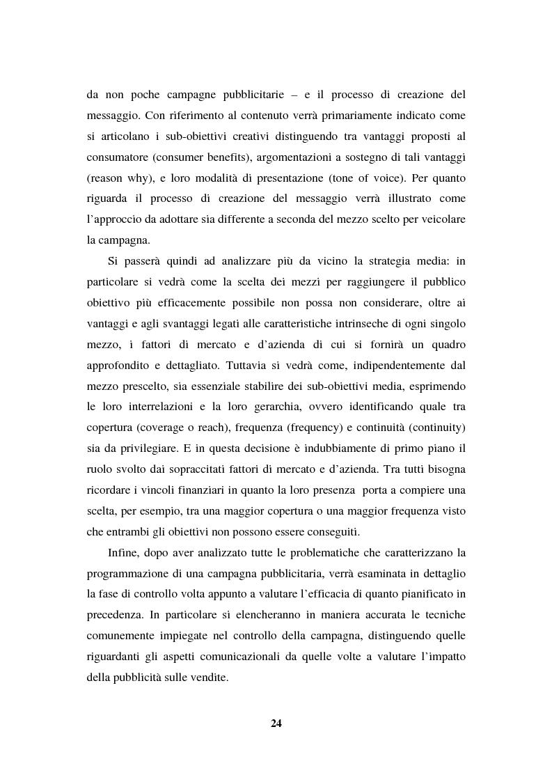 Anteprima della tesi: La programmazione e il controllo di una campagna pubblicitaria, Pagina 3
