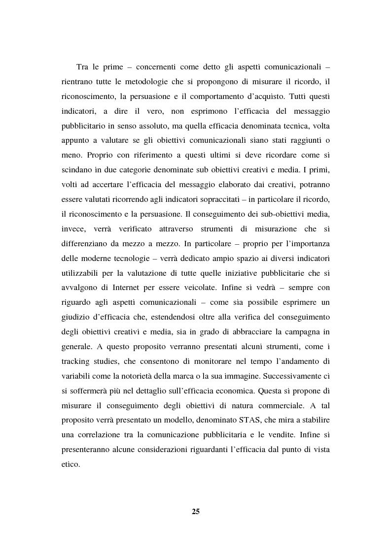 Anteprima della tesi: La programmazione e il controllo di una campagna pubblicitaria, Pagina 4