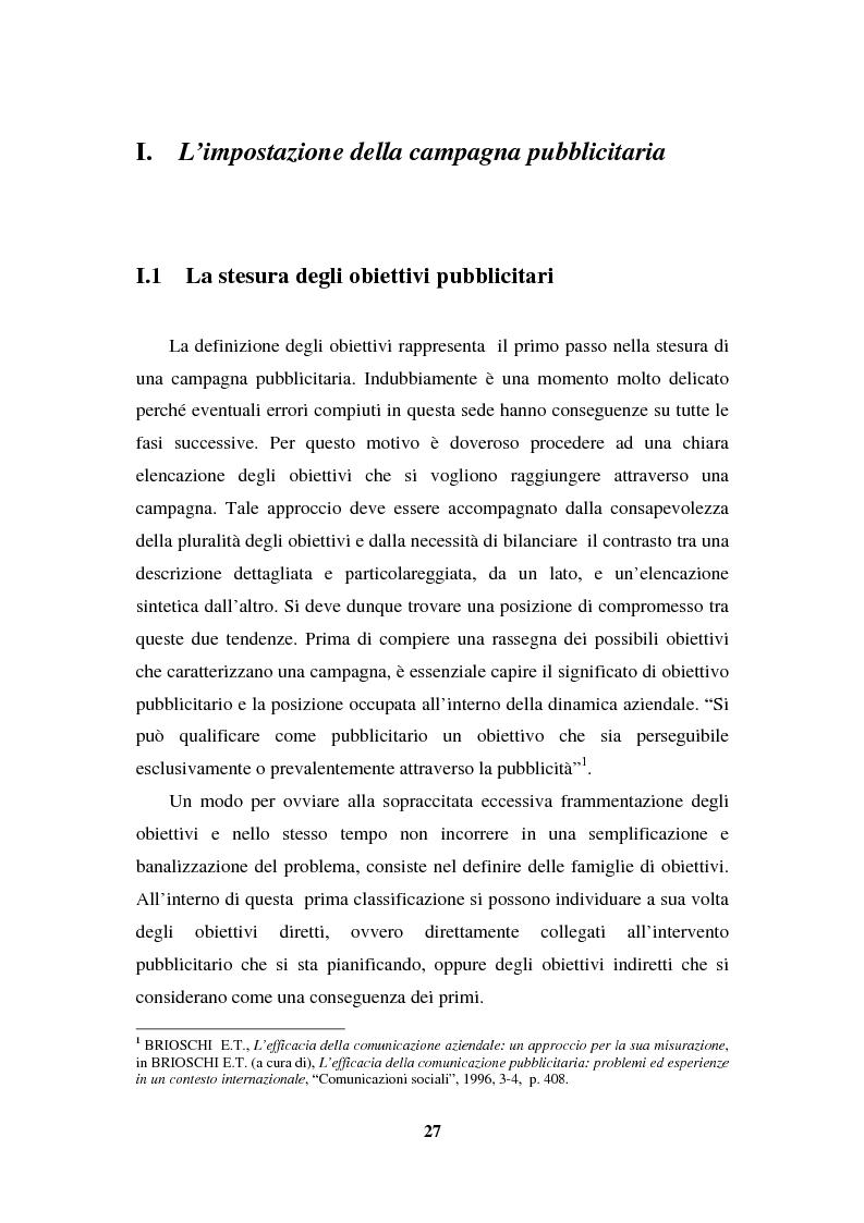 Anteprima della tesi: La programmazione e il controllo di una campagna pubblicitaria, Pagina 6