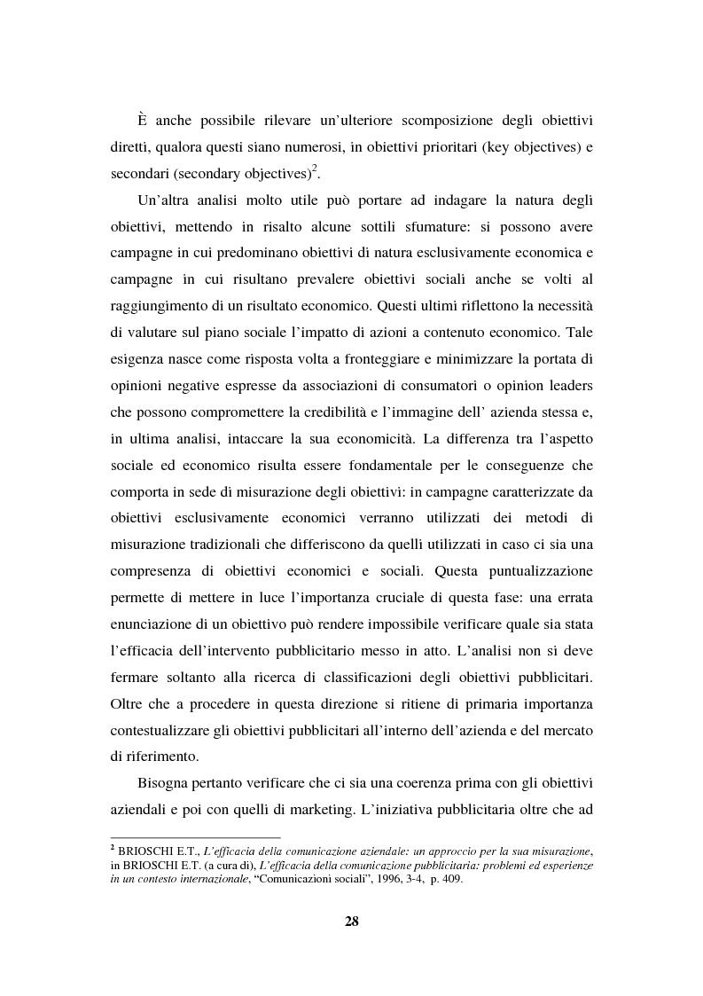 Anteprima della tesi: La programmazione e il controllo di una campagna pubblicitaria, Pagina 7