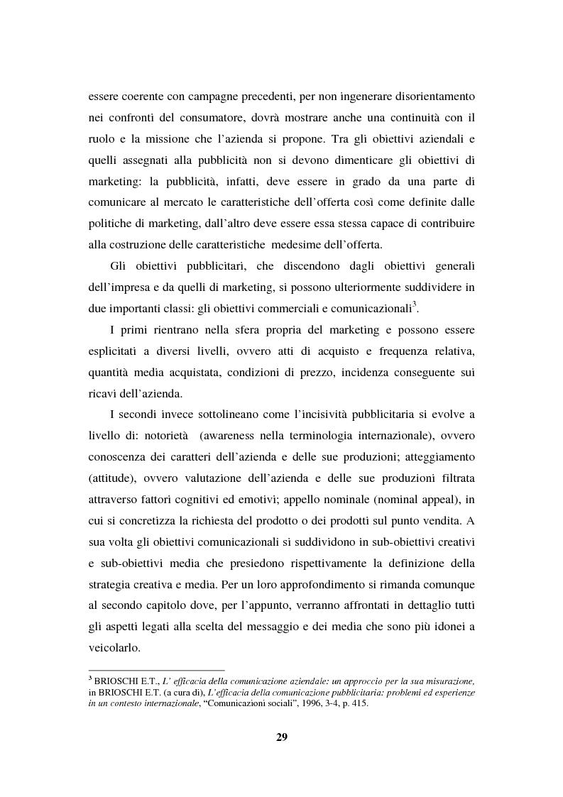 Anteprima della tesi: La programmazione e il controllo di una campagna pubblicitaria, Pagina 8