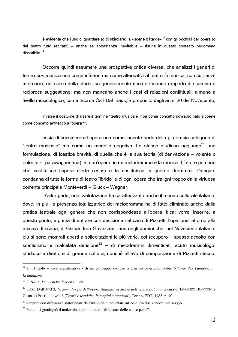 """Anteprima della tesi: """"La tragédienne du silence"""". Ida Rubinstein e le musiche di scena per """"La Pisanelle"""" di Gabriele d'Annunzio, Pagina 12"""