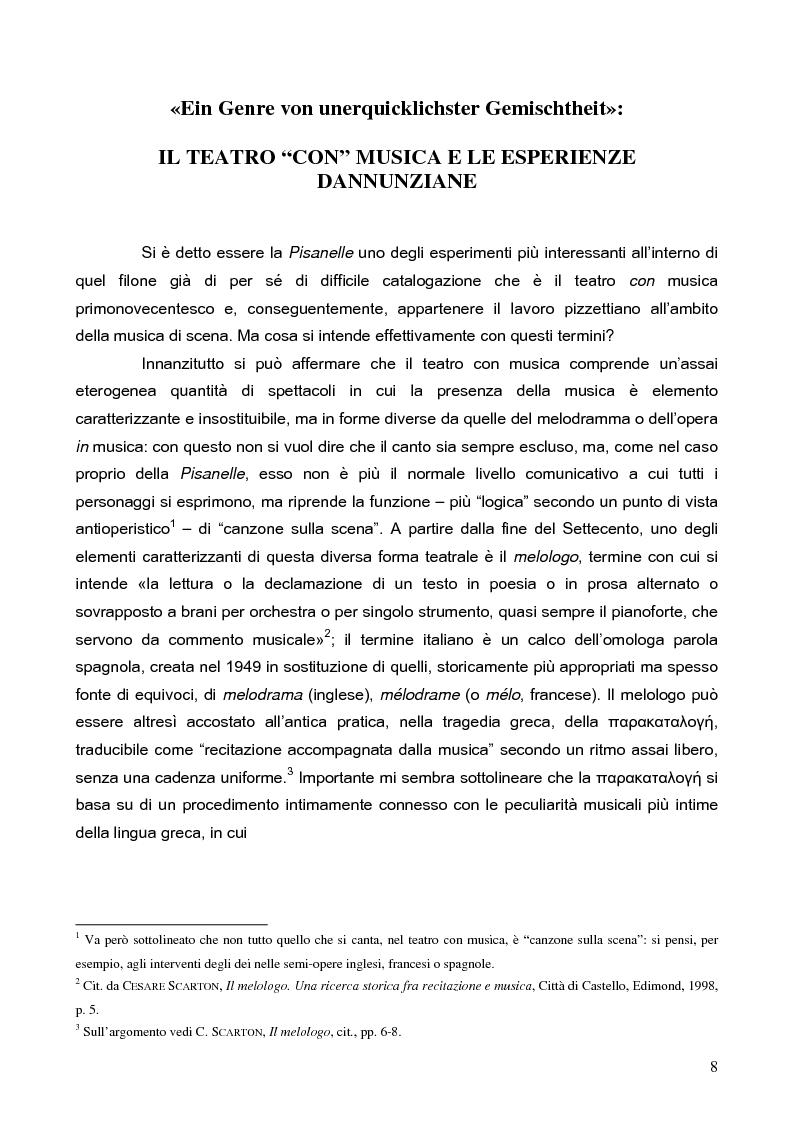 """Anteprima della tesi: """"La tragédienne du silence"""". Ida Rubinstein e le musiche di scena per """"La Pisanelle"""" di Gabriele d'Annunzio, Pagina 8"""