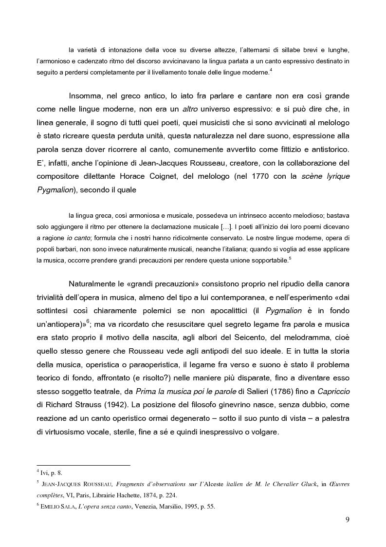 """Anteprima della tesi: """"La tragédienne du silence"""". Ida Rubinstein e le musiche di scena per """"La Pisanelle"""" di Gabriele d'Annunzio, Pagina 9"""