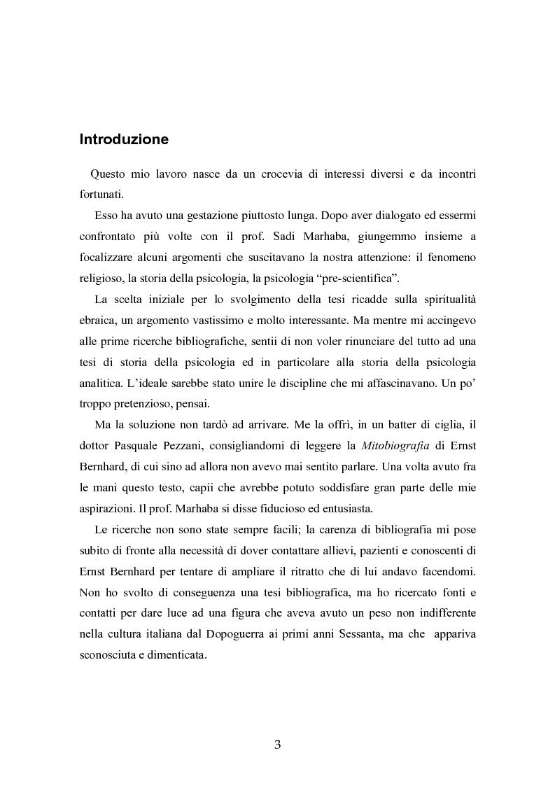 Anteprima della tesi: Ernst Bernhard (1896-1965): un ''maestro scomodo''della psicologia del profondo, Pagina 1