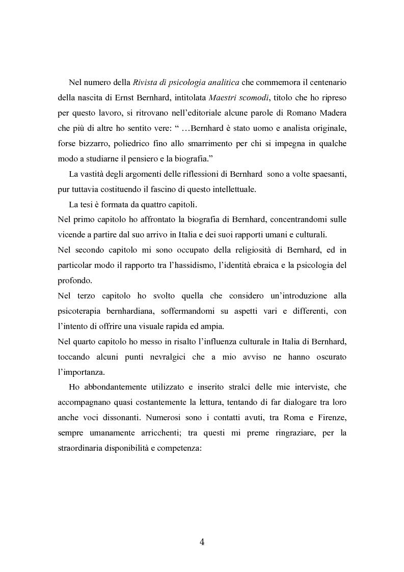 Anteprima della tesi: Ernst Bernhard (1896-1965): un ''maestro scomodo''della psicologia del profondo, Pagina 2