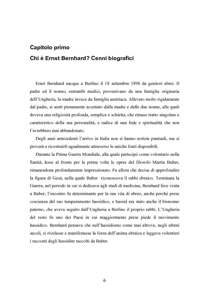 Anteprima della tesi: Ernst Bernhard (1896-1965): un ''maestro scomodo''della psicologia del profondo, Pagina 4