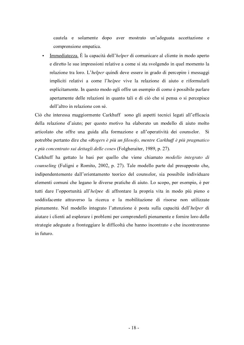 Anteprima della tesi: SMS e relazione d'aiuto: il caso di @gile, un servizio d'ascolto, Pagina 14
