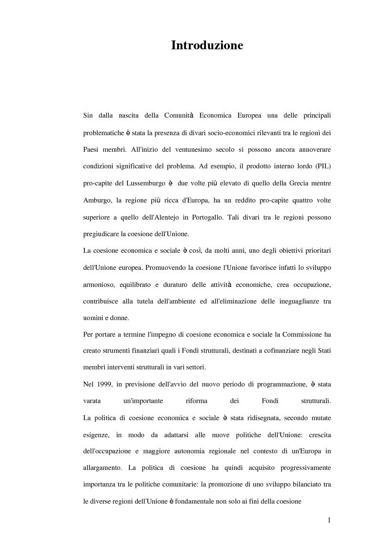 Anteprima della tesi: La trasformazione dei prodotti agricoli: Interventi del P.O.R. Puglia 2000-2006, Pagina 1