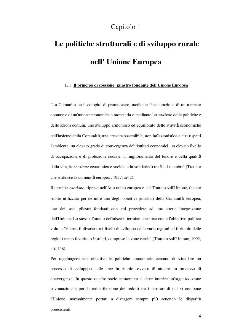 Anteprima della tesi: La trasformazione dei prodotti agricoli: Interventi del P.O.R. Puglia 2000-2006, Pagina 4