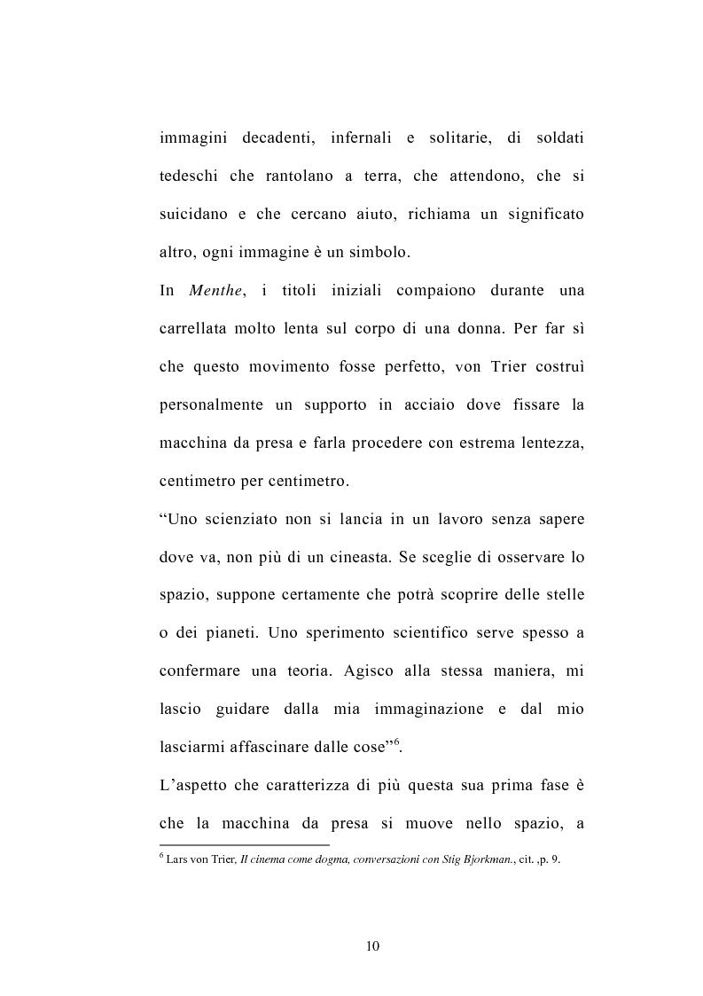 Anteprima della tesi: I germi della realtà: il cinema di Lars von Trier, Pagina 10