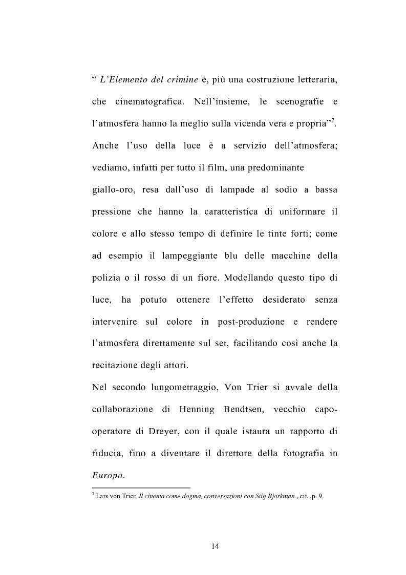 Anteprima della tesi: I germi della realtà: il cinema di Lars von Trier, Pagina 14