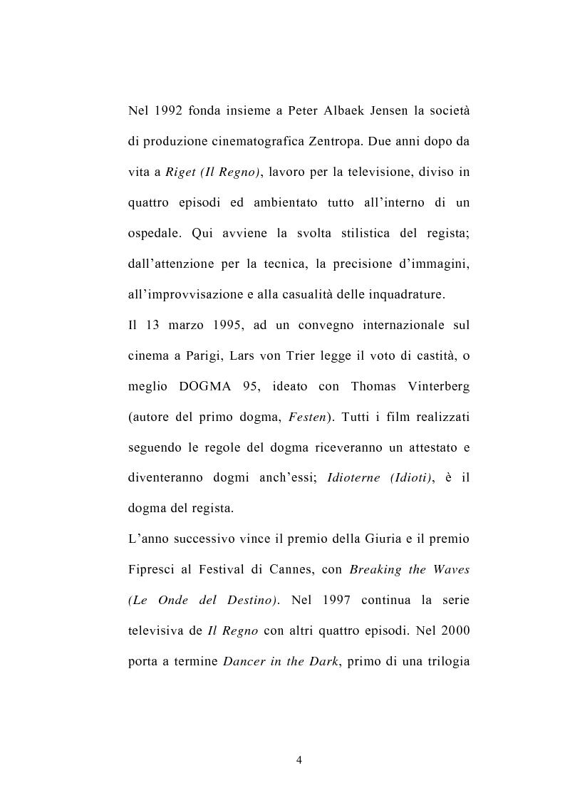 Anteprima della tesi: I germi della realtà: il cinema di Lars von Trier, Pagina 4
