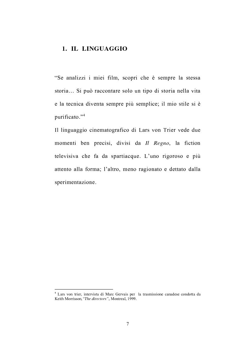 Anteprima della tesi: I germi della realtà: il cinema di Lars von Trier, Pagina 7