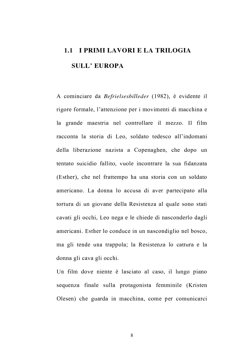 Anteprima della tesi: I germi della realtà: il cinema di Lars von Trier, Pagina 8