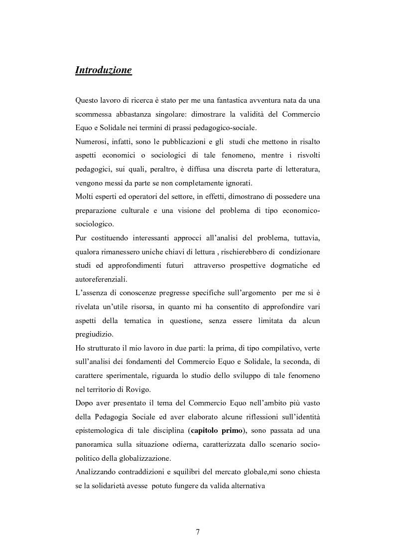 Anteprima della tesi: Il commercio equo e solidale: una prassi pedagogico-sociale, Pagina 1