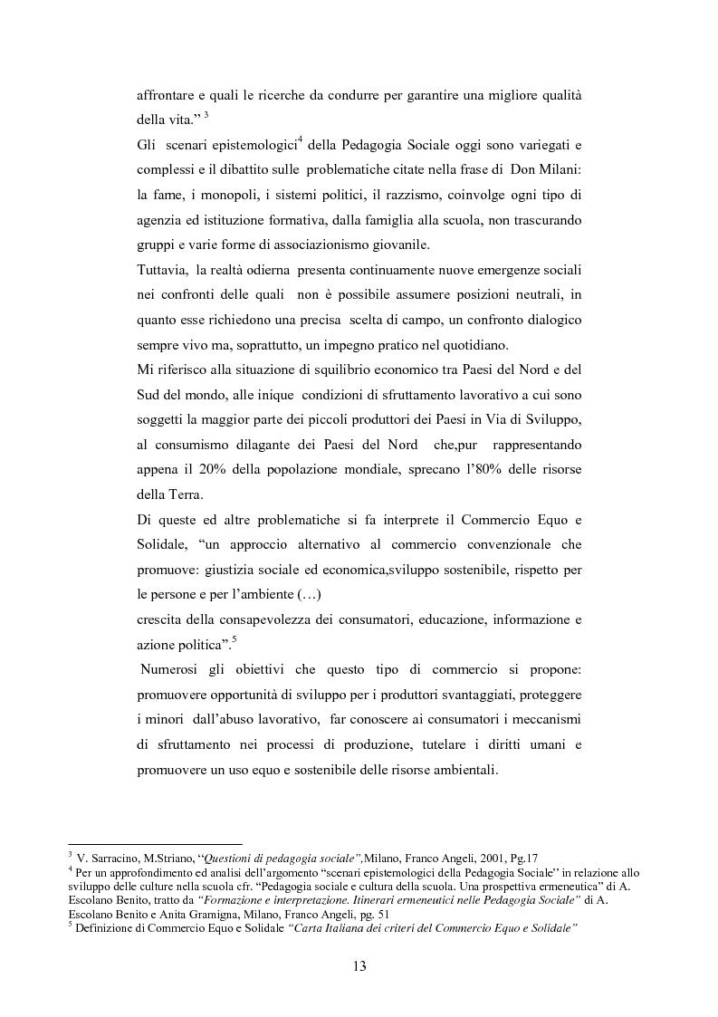 Anteprima della tesi: Il commercio equo e solidale: una prassi pedagogico-sociale, Pagina 7