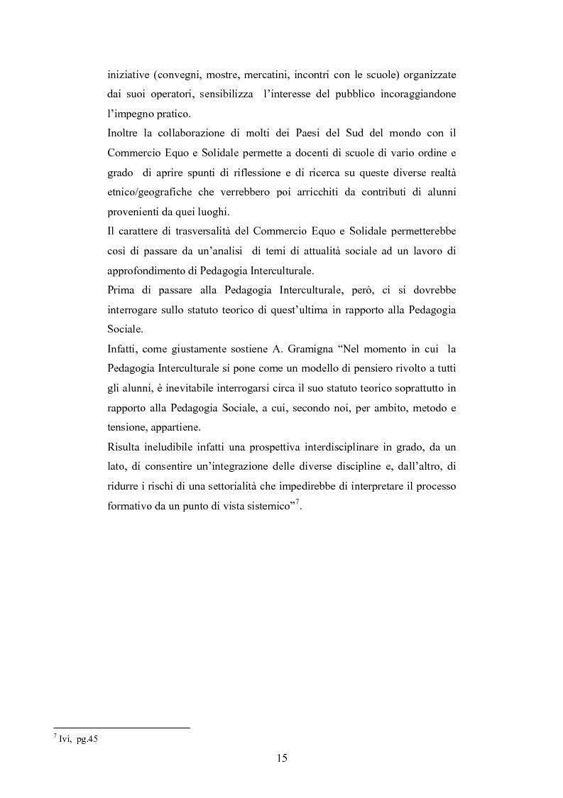 Anteprima della tesi: Il commercio equo e solidale: una prassi pedagogico-sociale, Pagina 9
