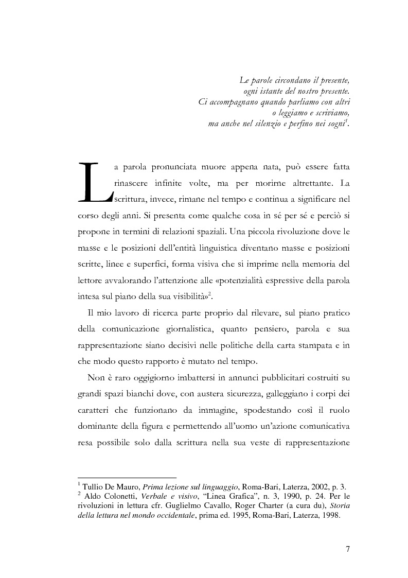 Anteprima della tesi: La storia grafica del quotidiano ''la Repubblica'', Pagina 1