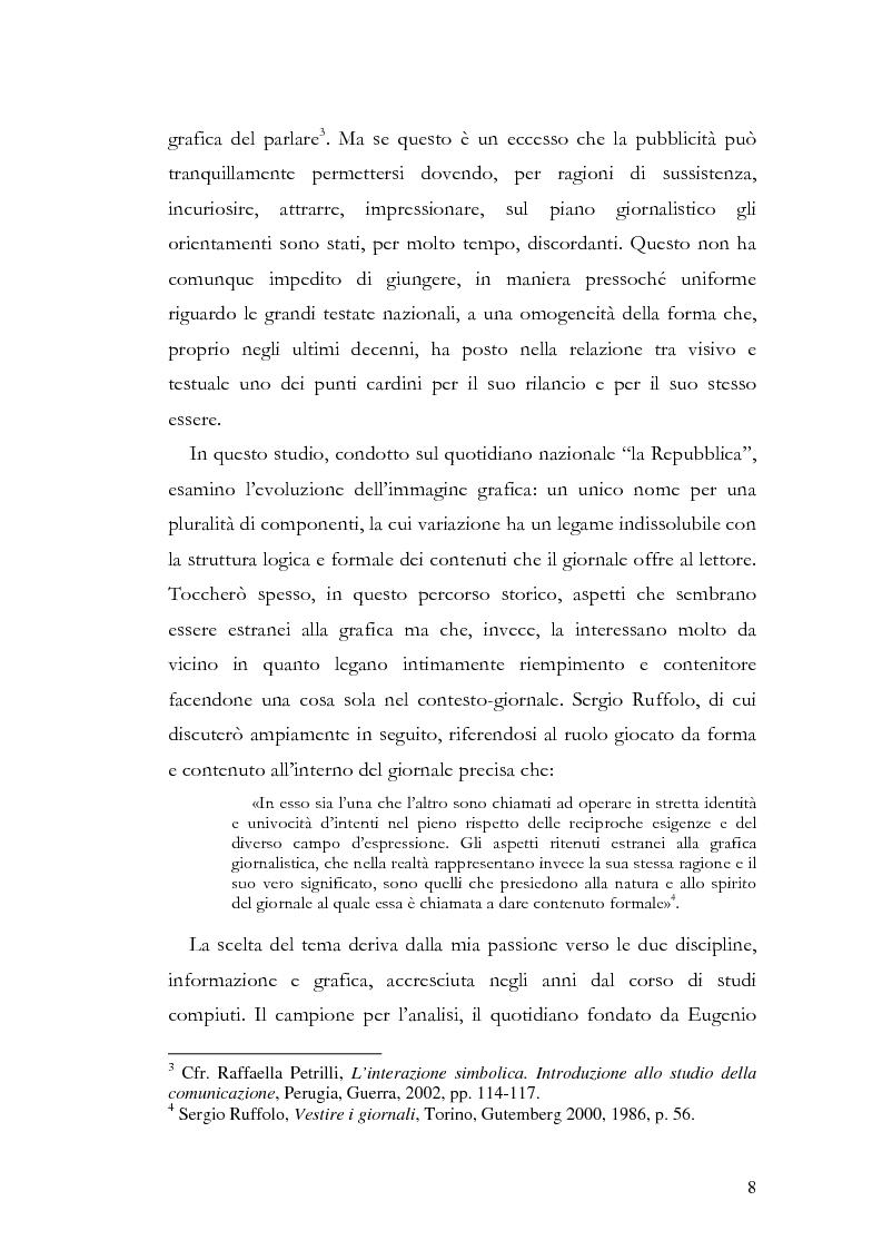 Anteprima della tesi: La storia grafica del quotidiano ''la Repubblica'', Pagina 2