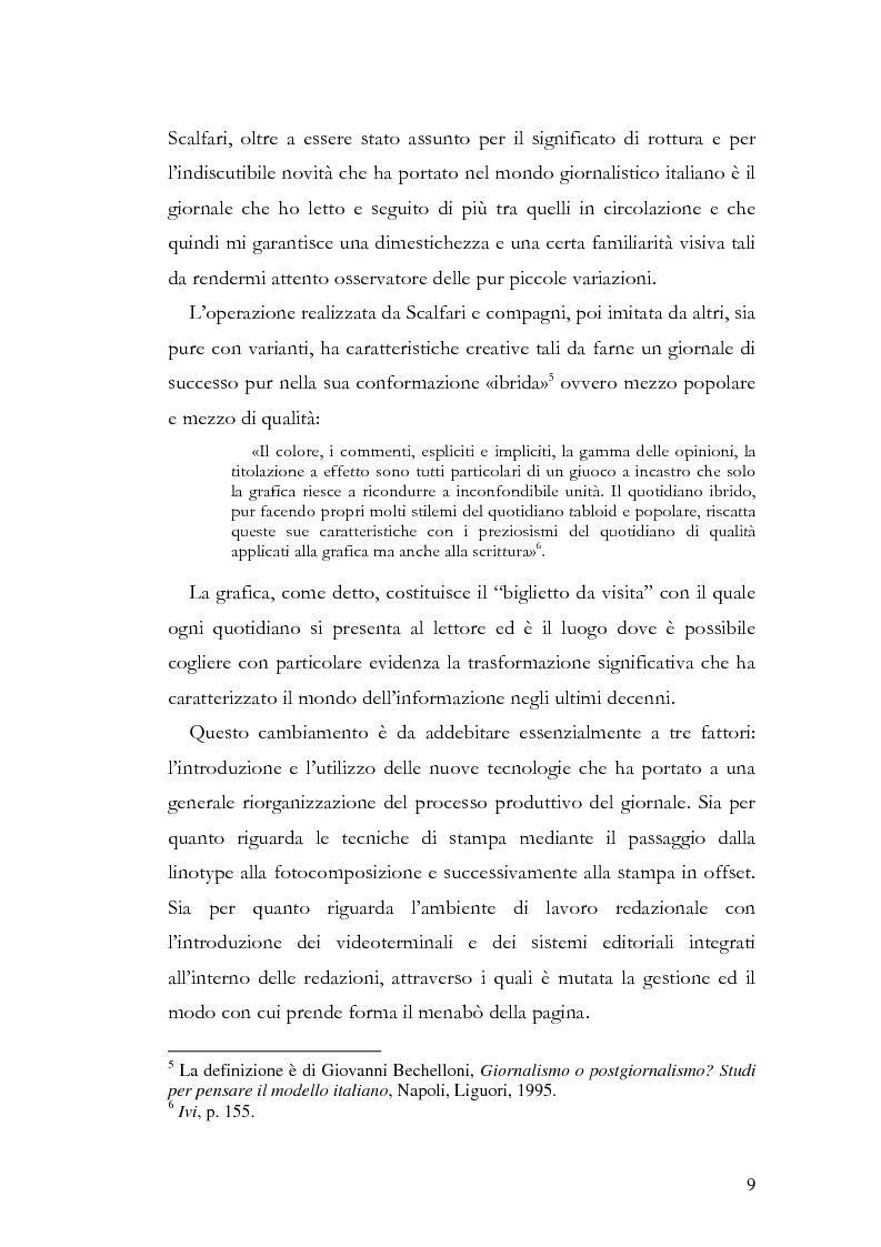 Anteprima della tesi: La storia grafica del quotidiano ''la Repubblica'', Pagina 3