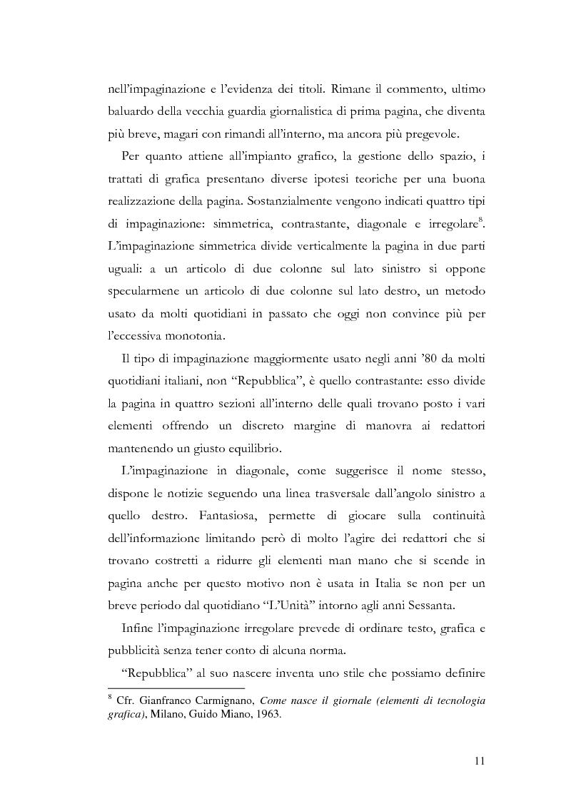 Anteprima della tesi: La storia grafica del quotidiano ''la Repubblica'', Pagina 5