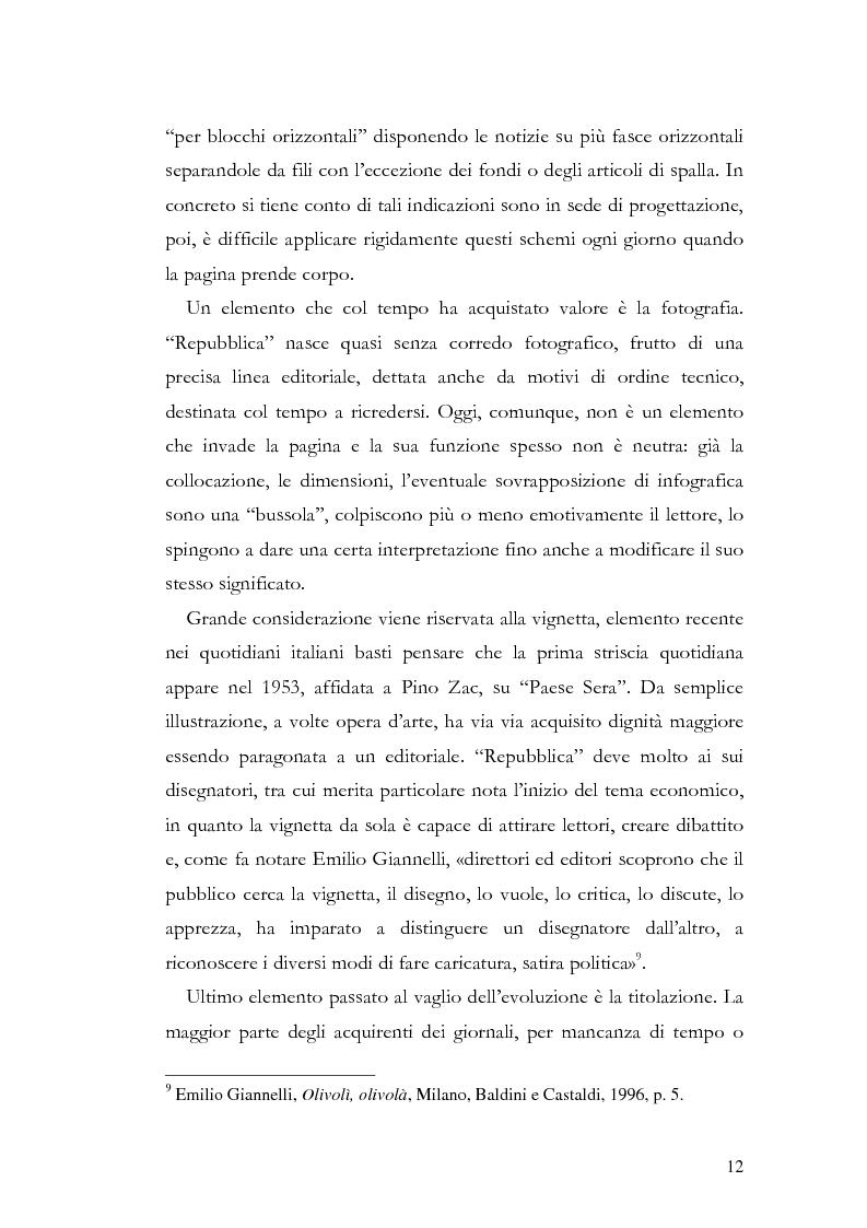 Anteprima della tesi: La storia grafica del quotidiano ''la Repubblica'', Pagina 6