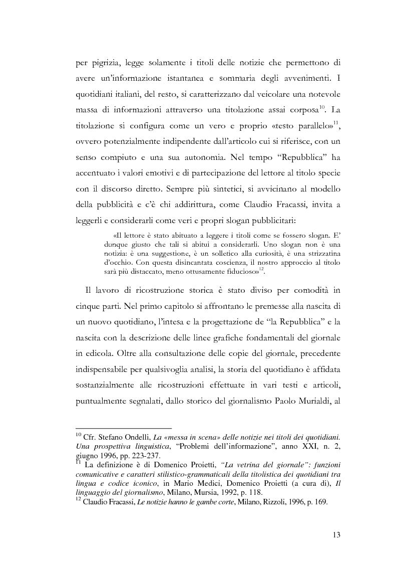 Anteprima della tesi: La storia grafica del quotidiano ''la Repubblica'', Pagina 7