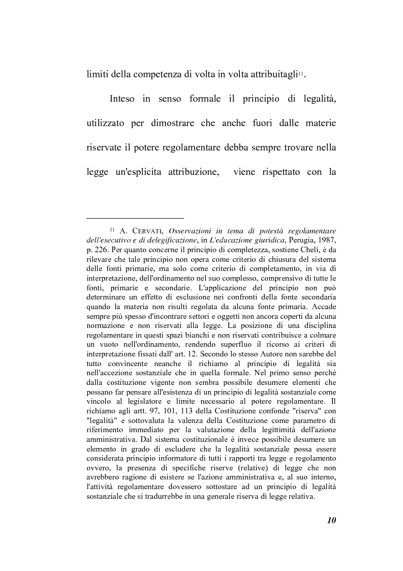 Anteprima della tesi: Il potere regolamentare delle autorità indipendenti, Pagina 10