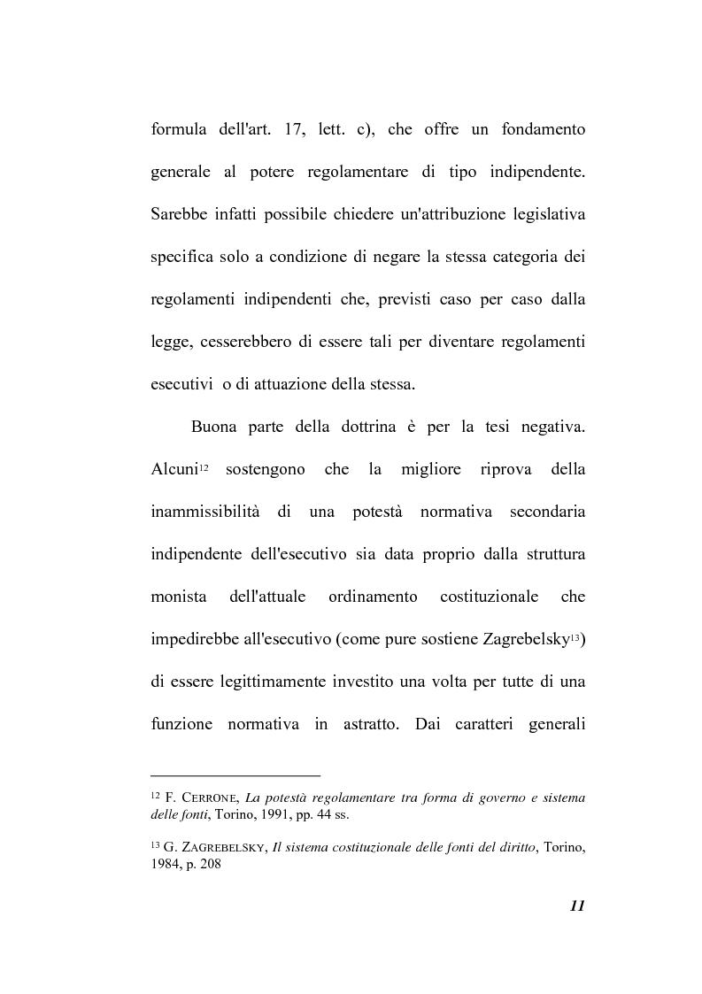 Anteprima della tesi: Il potere regolamentare delle autorità indipendenti, Pagina 11
