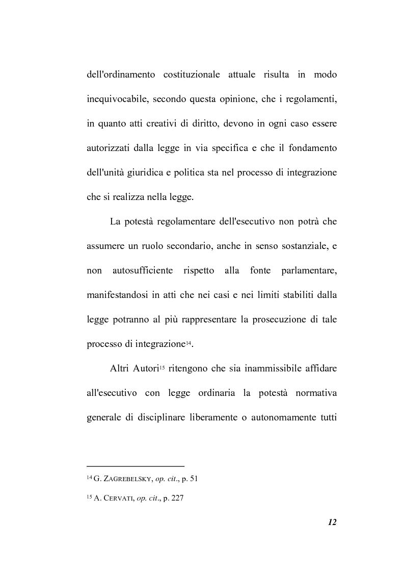 Anteprima della tesi: Il potere regolamentare delle autorità indipendenti, Pagina 12