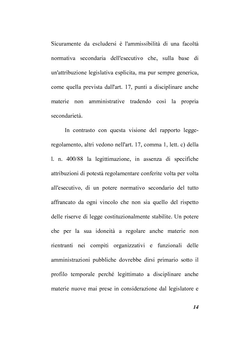 Anteprima della tesi: Il potere regolamentare delle autorità indipendenti, Pagina 14
