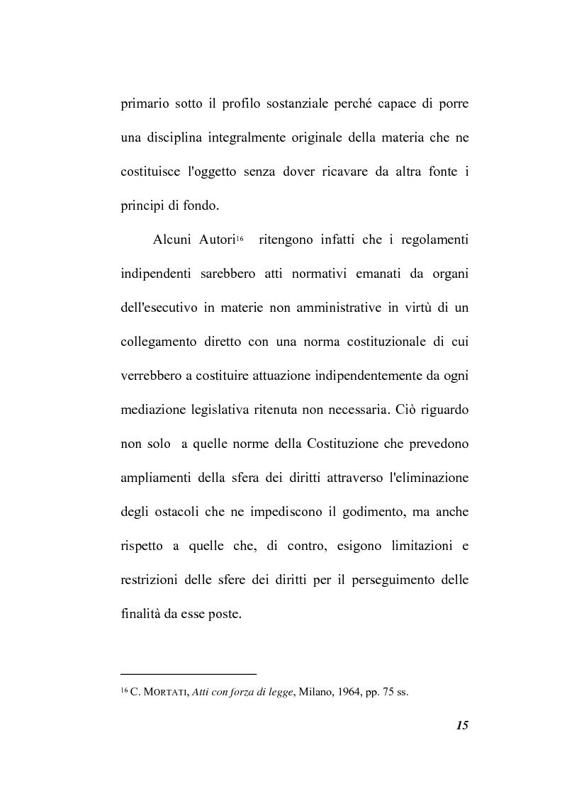 Anteprima della tesi: Il potere regolamentare delle autorità indipendenti, Pagina 15